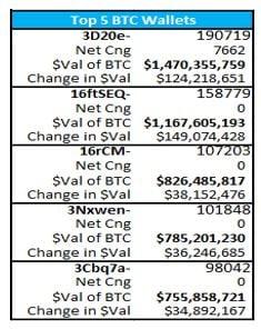 Top 5 BTC Wallets